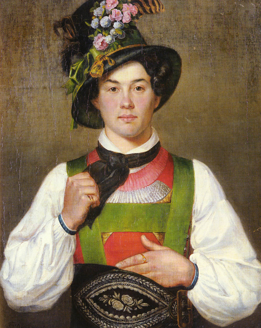 A Young Man in Tyrolean Costume | Franz Von Defregger | Oil Painting
