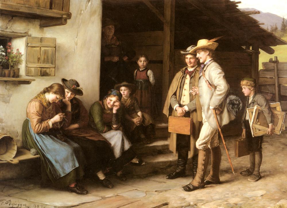 Die Erste Studienreise | Franz Von Defregger | Oil Painting