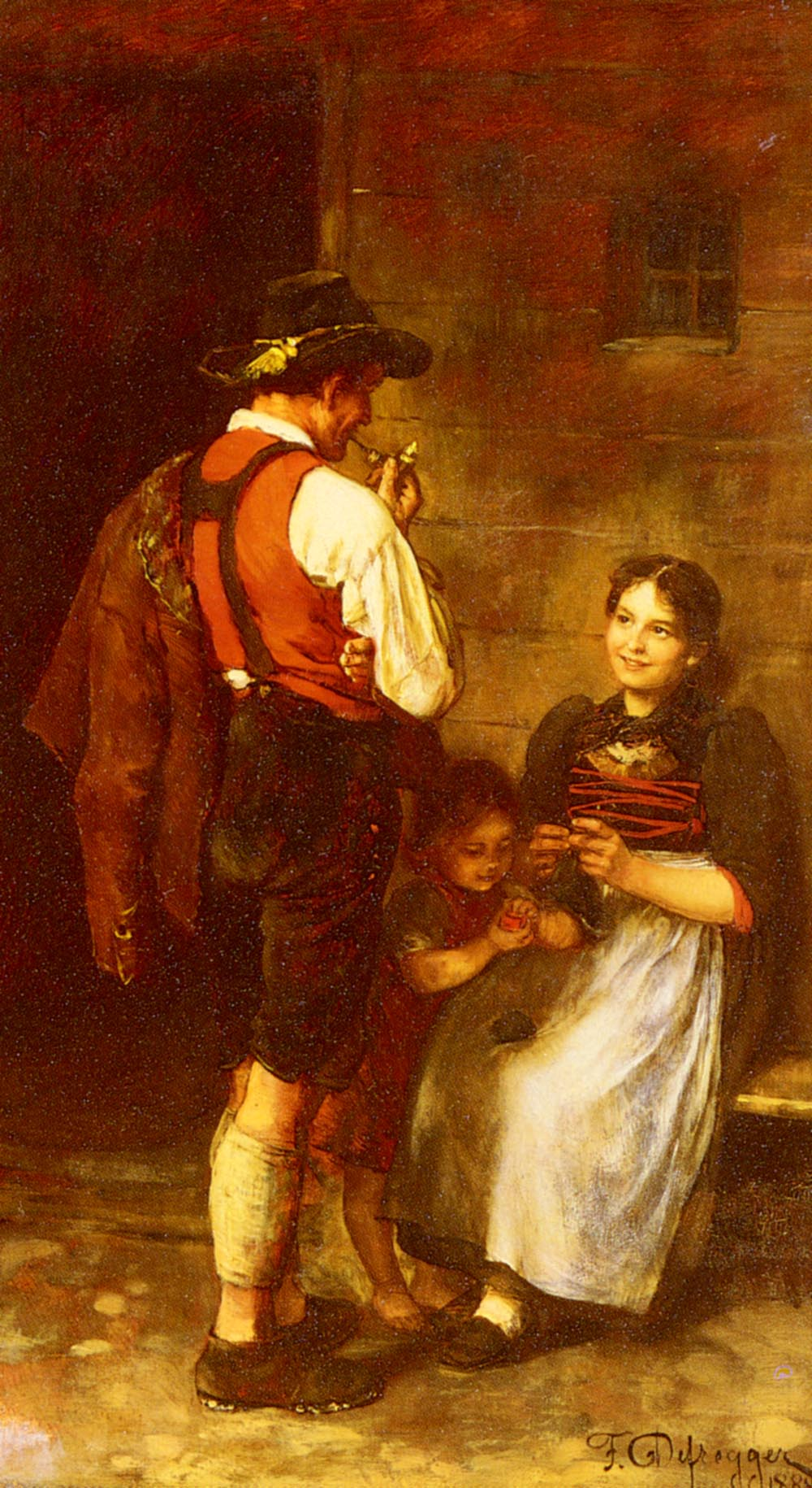 The Happy Family | Franz Von Defregger | Oil Painting