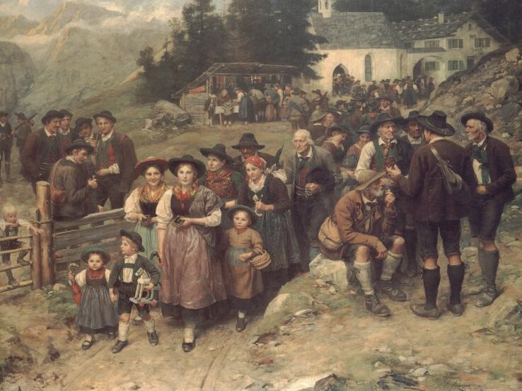 Wallfahrer | Franz Von Defregger | Oil Painting
