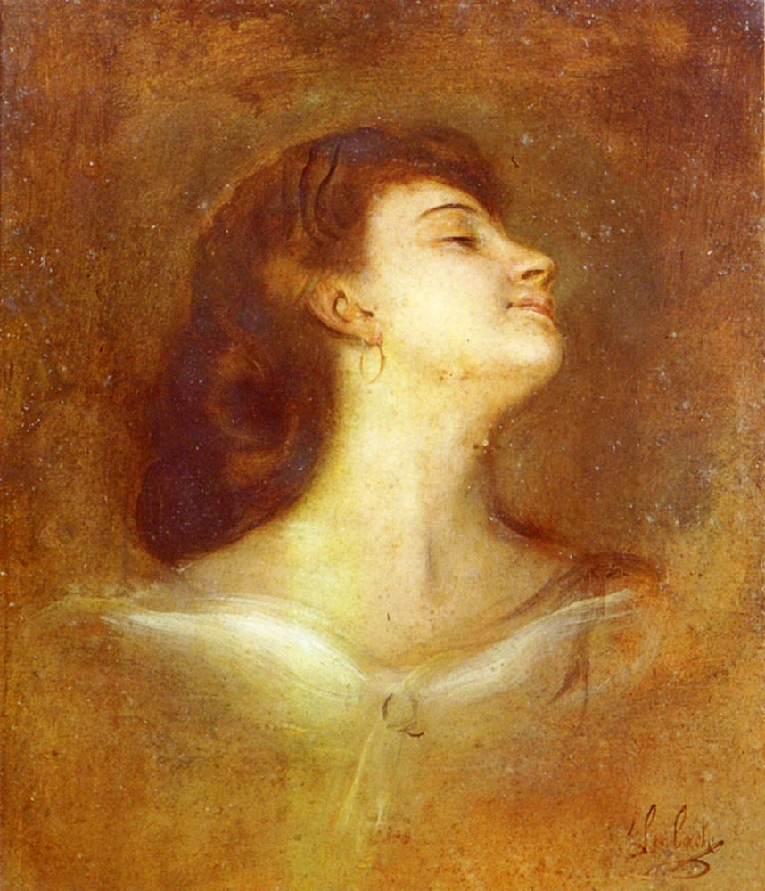 Portrait Of A Lady In Profile | Franz Von Lenbach | Oil Painting