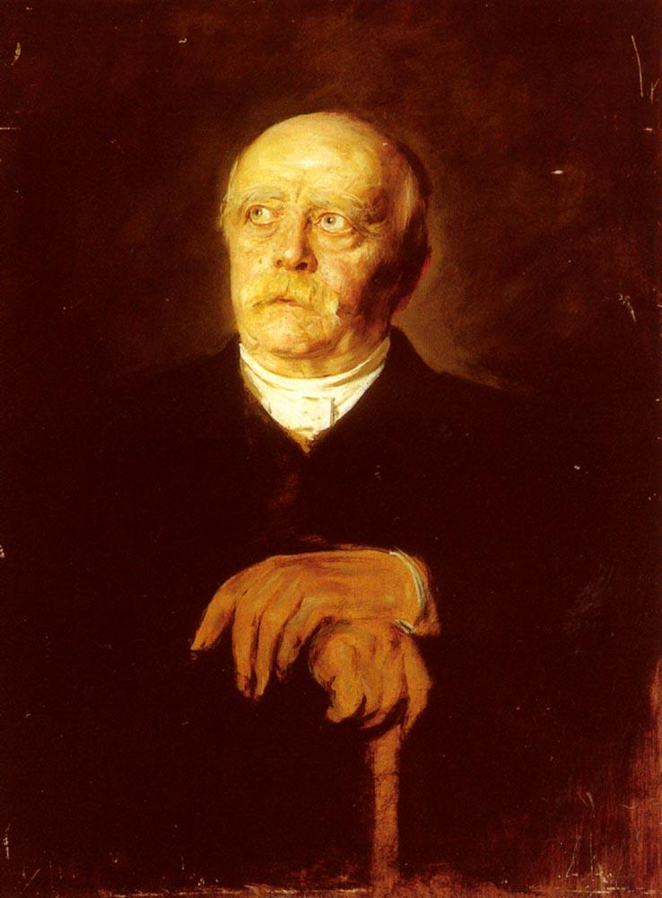 Portrait Of Furst Otto Von Bismarck | Franz Von Lenbach | Oil Painting