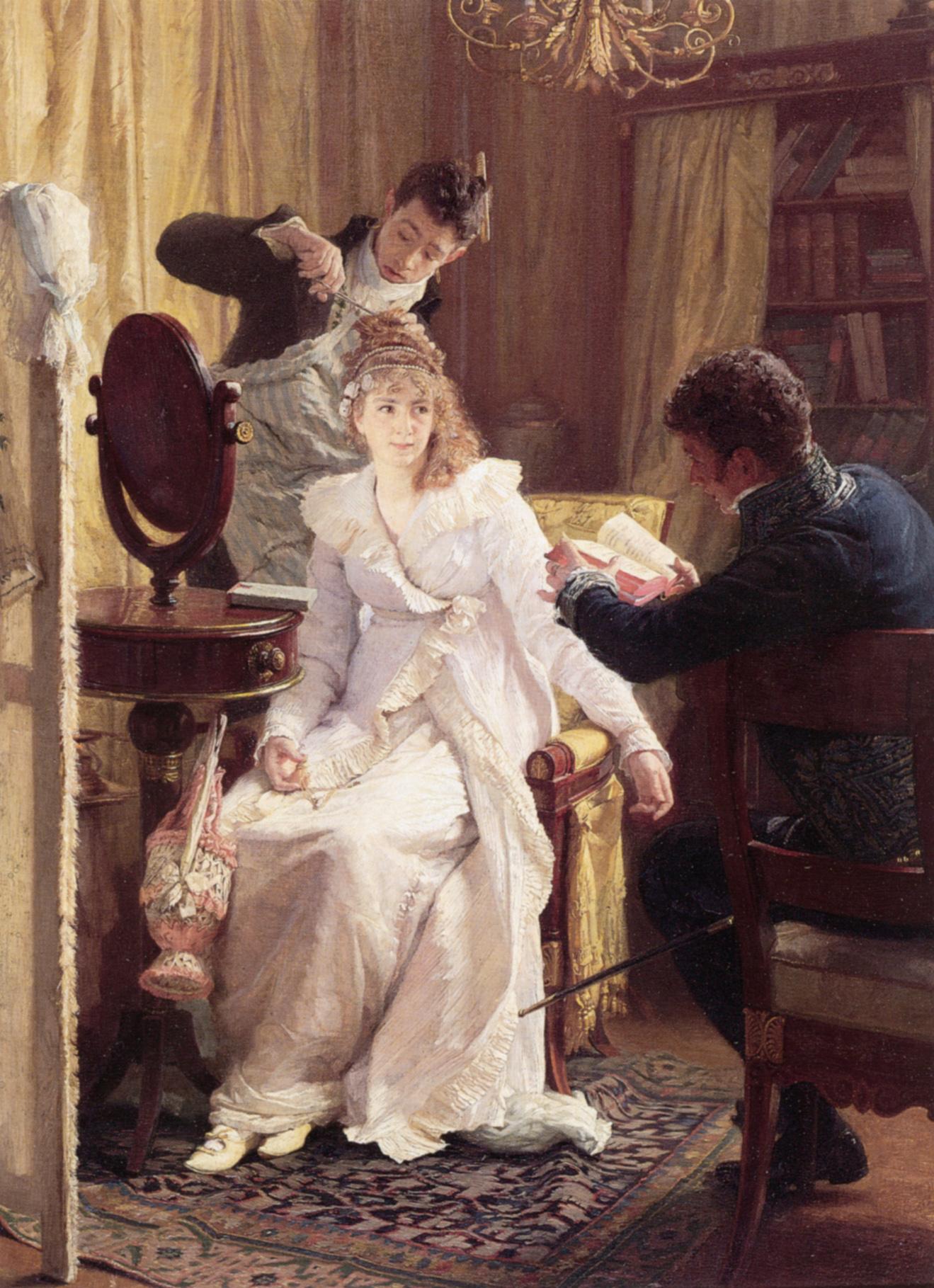 Preparing For the Ball | Franz Xaver Simm | Oil Painting
