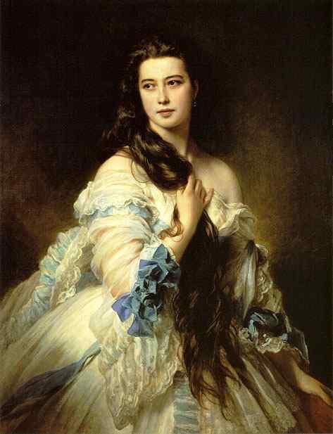 Portrait Of Mme Rimsky Korsakova 1864 | Franz Xaver Winterhalter | Oil Painting