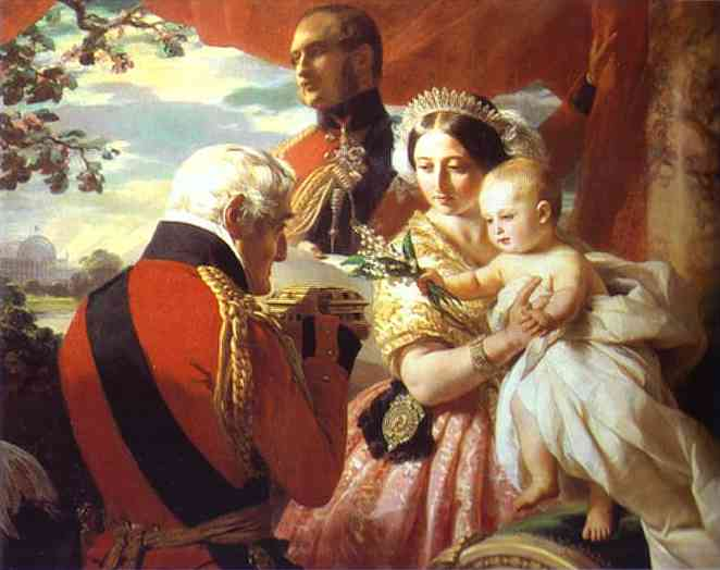 The First Of May The Duke Of Wellington Presenting A Casket On Prince Arthurs Birthday 1851 | Franz Xaver Winterhalter | Oil Painting