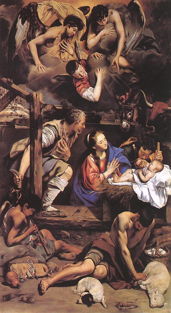 Adoration of the Shepherds 1612 | Fray Juan Baustiano Maino | Oil Painting