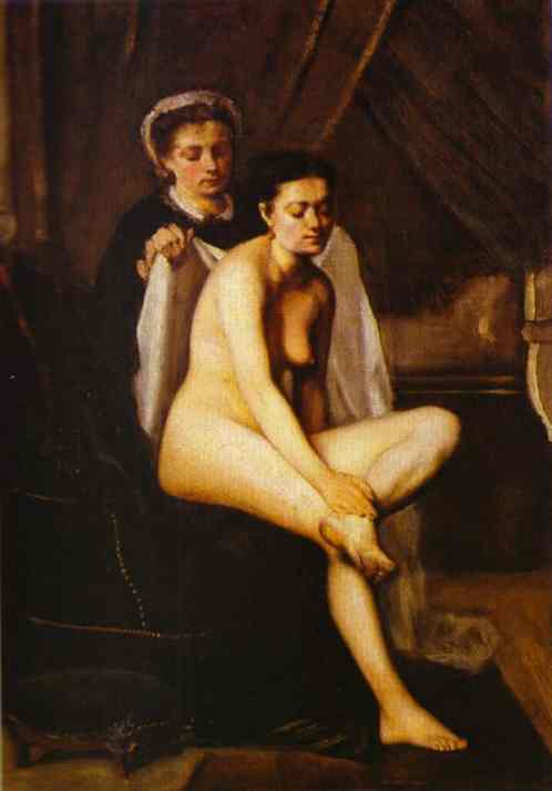 After The Bath 1870 | Frederic Bazzille | Oil Painting