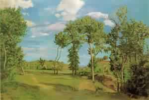 Bazille Paysage Au Bord Du Lez 1870 | Frederic Bazzille | Oil Painting
