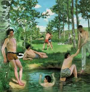 Bazille Summer Scene 1869 | Frederic Bazzille | Oil Painting