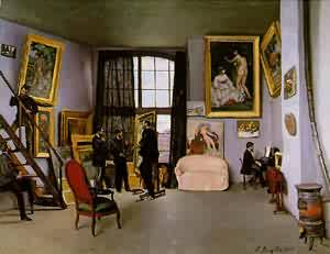 Bazilles Studio 9 Rue De La Condamine 1870 | Frederic Bazzille | Oil Painting