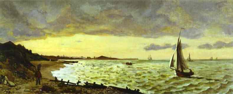 Beach At Sainte Adresse 1865 | Frederic Bazzille | Oil Painting