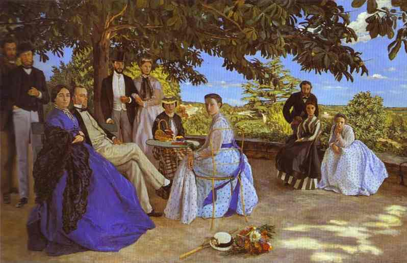 Family Reunion 1867   Frederic Bazzille   Oil Painting