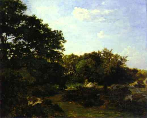 Forest Of Fontainebleau 1865   Frederic Bazzille   Oil Painting
