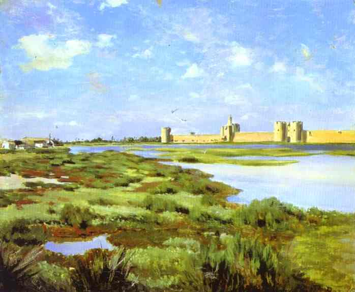 Landscape Of Aigues Mortes 1867 | Frederic Bazzille | Oil Painting