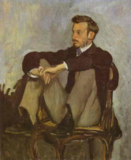 Portrait Of Pierre Auguste Renoir 1867 | Frederic Bazzille | Oil Painting