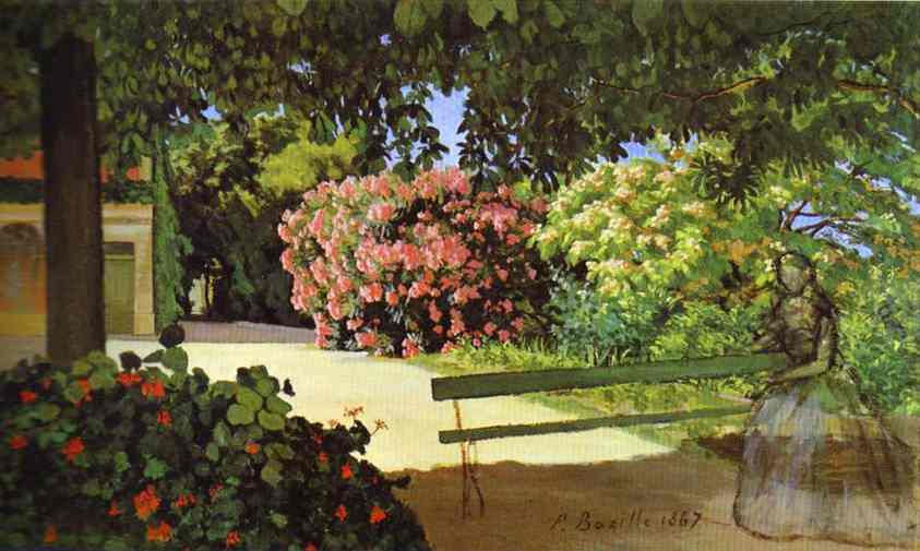 The Terrace At Meric Oleander 1867 | Frederic Bazzille | Oil Painting