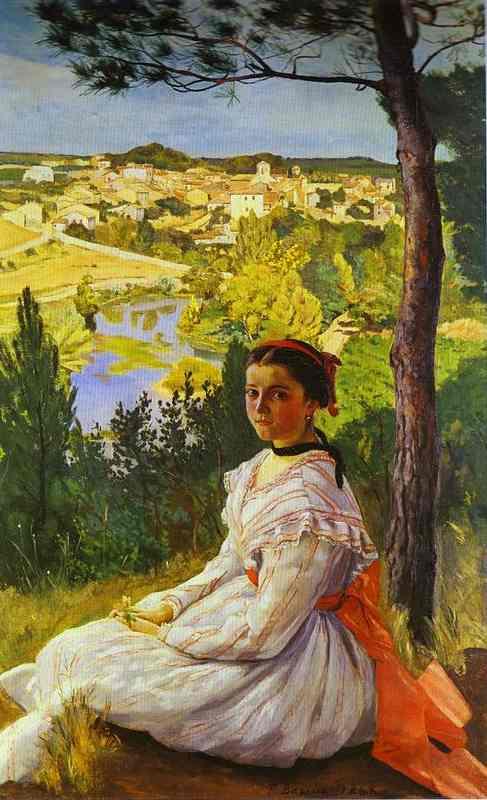 View Of The Village Of Castelnau Le Lez  1868 | Frederic Bazzille | Oil Painting