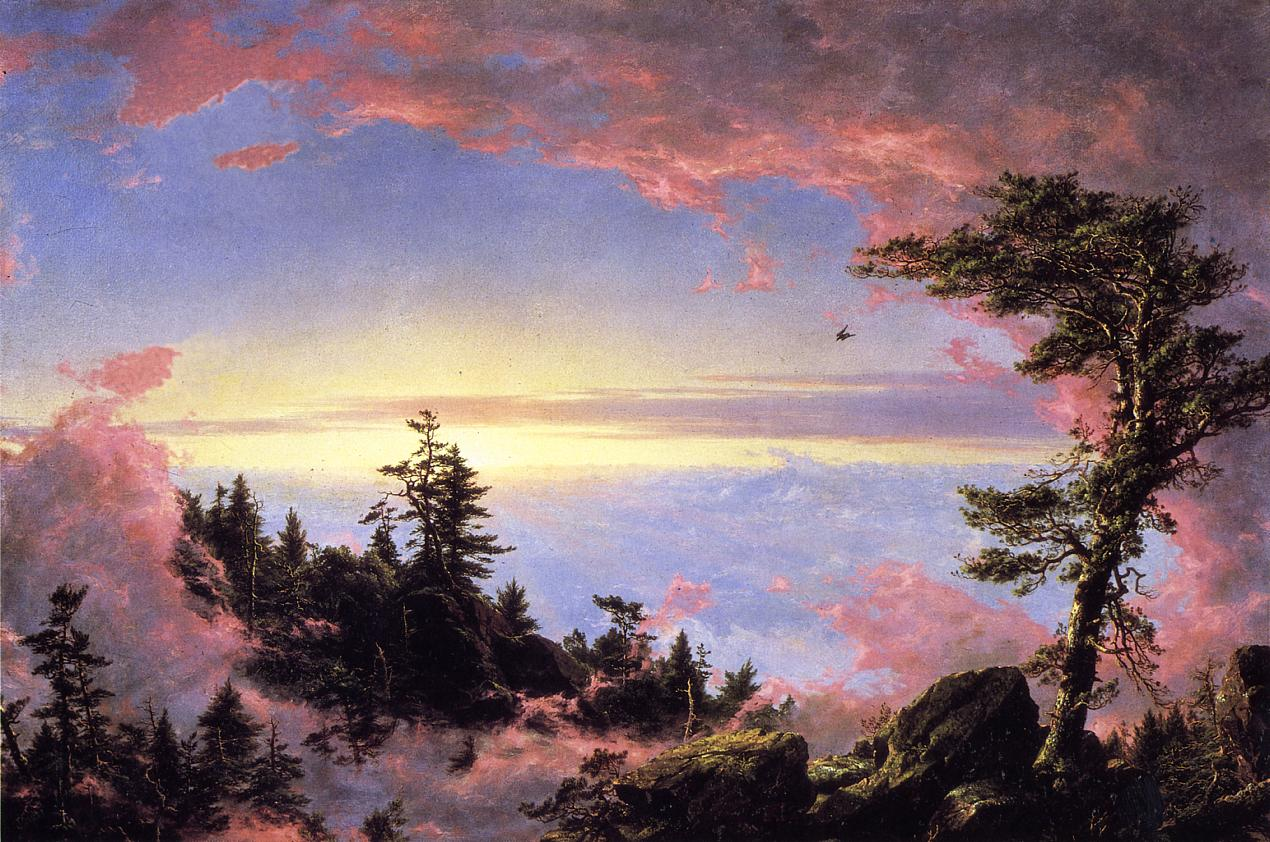 Above the Clouds at Sunrise 1849 | Frederic Edwin Church | Oil Painting
