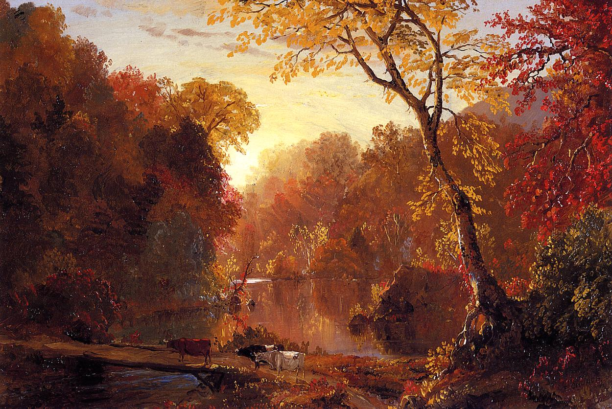 Autumn in North America 1856   Frederic Edwin Church   Oil Painting