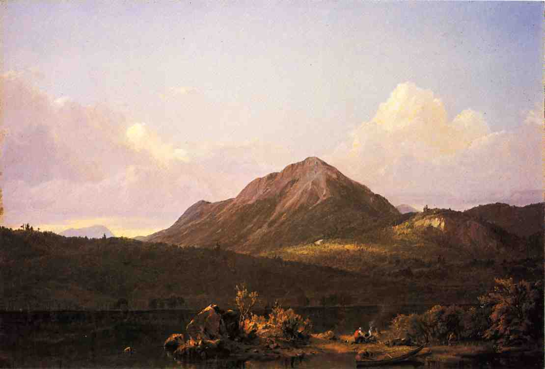 Camp Fire in the Maine Wilderness 1851-1859   Frederic Edwin Church   Oil Painting