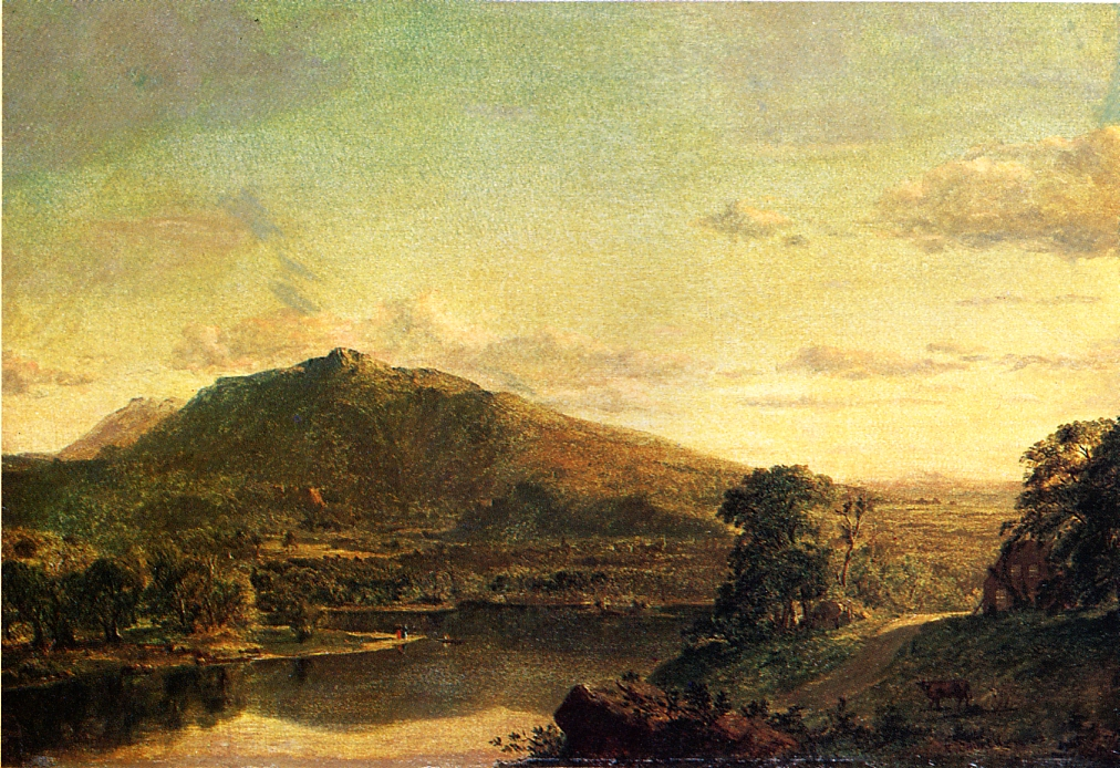 Figures in a New England Landscape 1852 | Frederic Edwin Church | Oil Painting