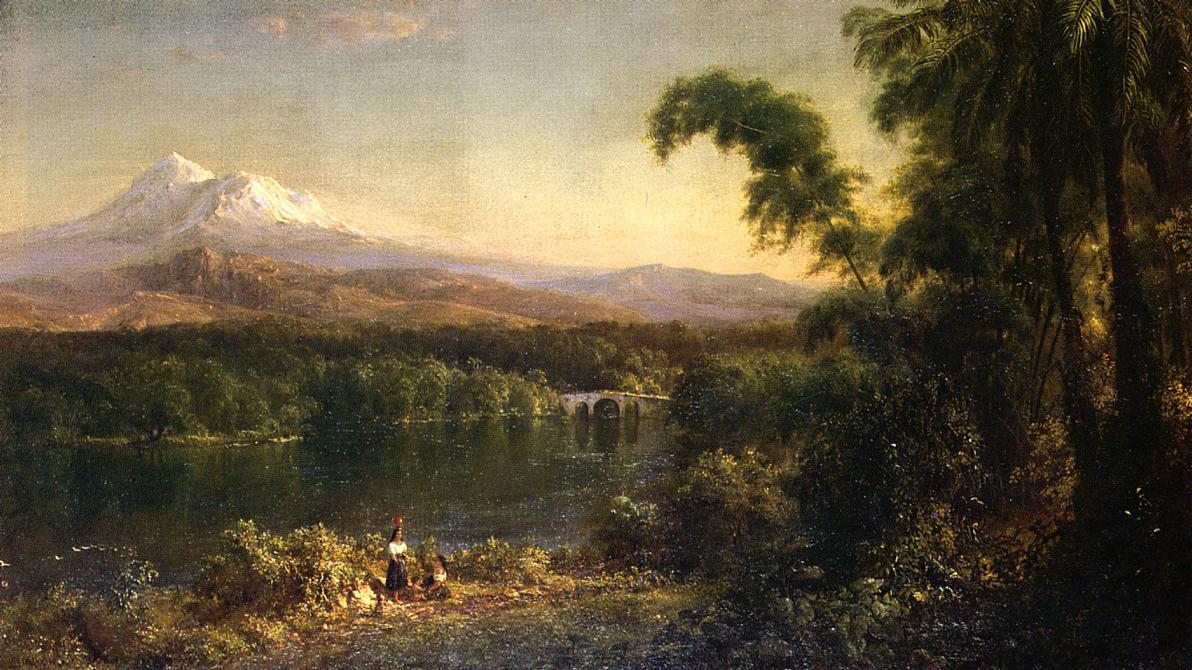 Figures in an Ecuadorian Landscape 1872 | Frederic Edwin Church | Oil Painting