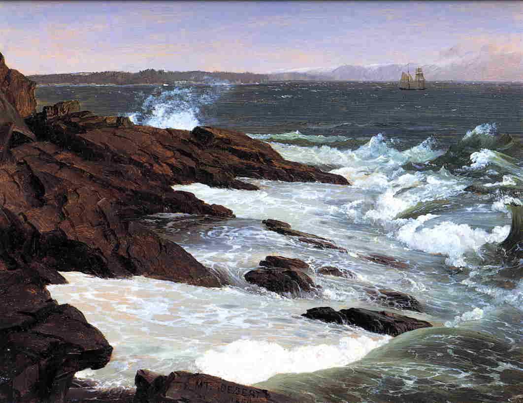 Fog off Mount Desert 1850 | Frederic Edwin Church | Oil Painting