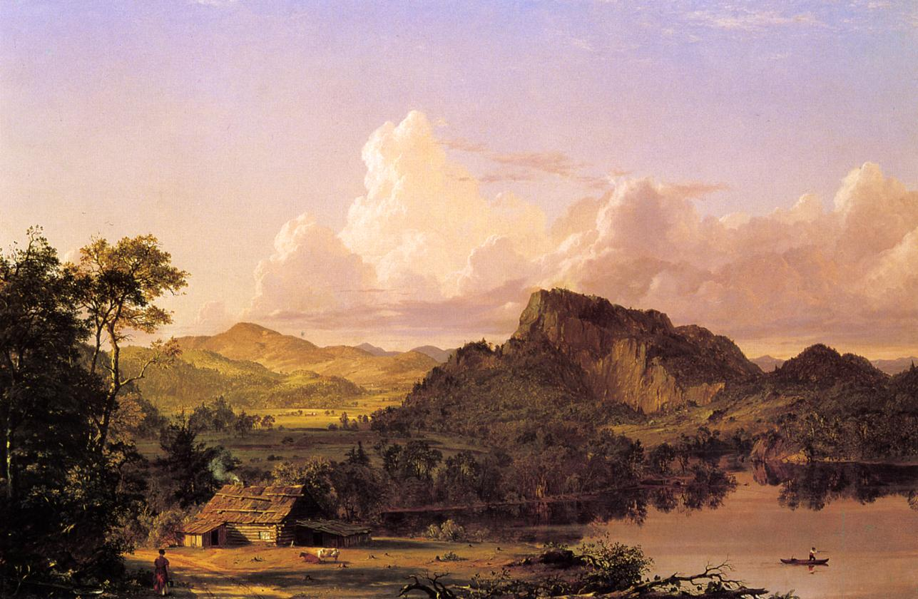 Home by the Lake 1852   Frederic Edwin Church   Oil Painting