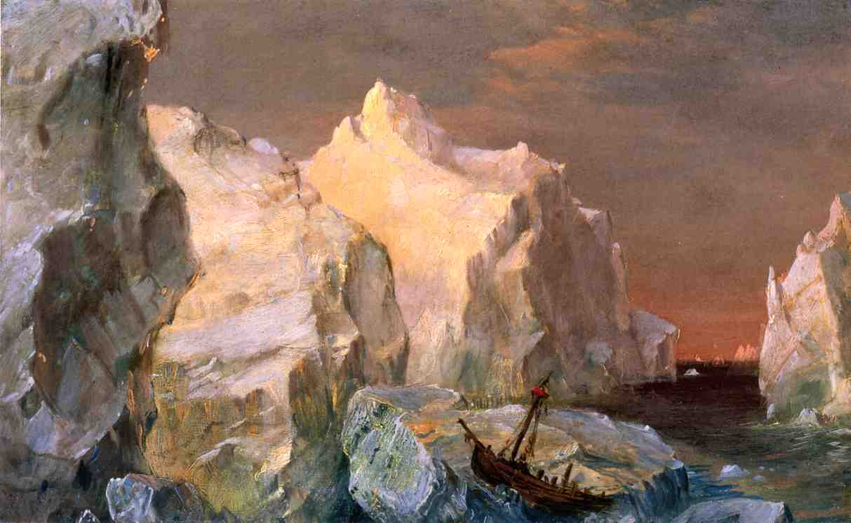 Icebergs and Wreck in Sunset aka Study for The Icebergs 1860 | Frederic Edwin Church | Oil Painting