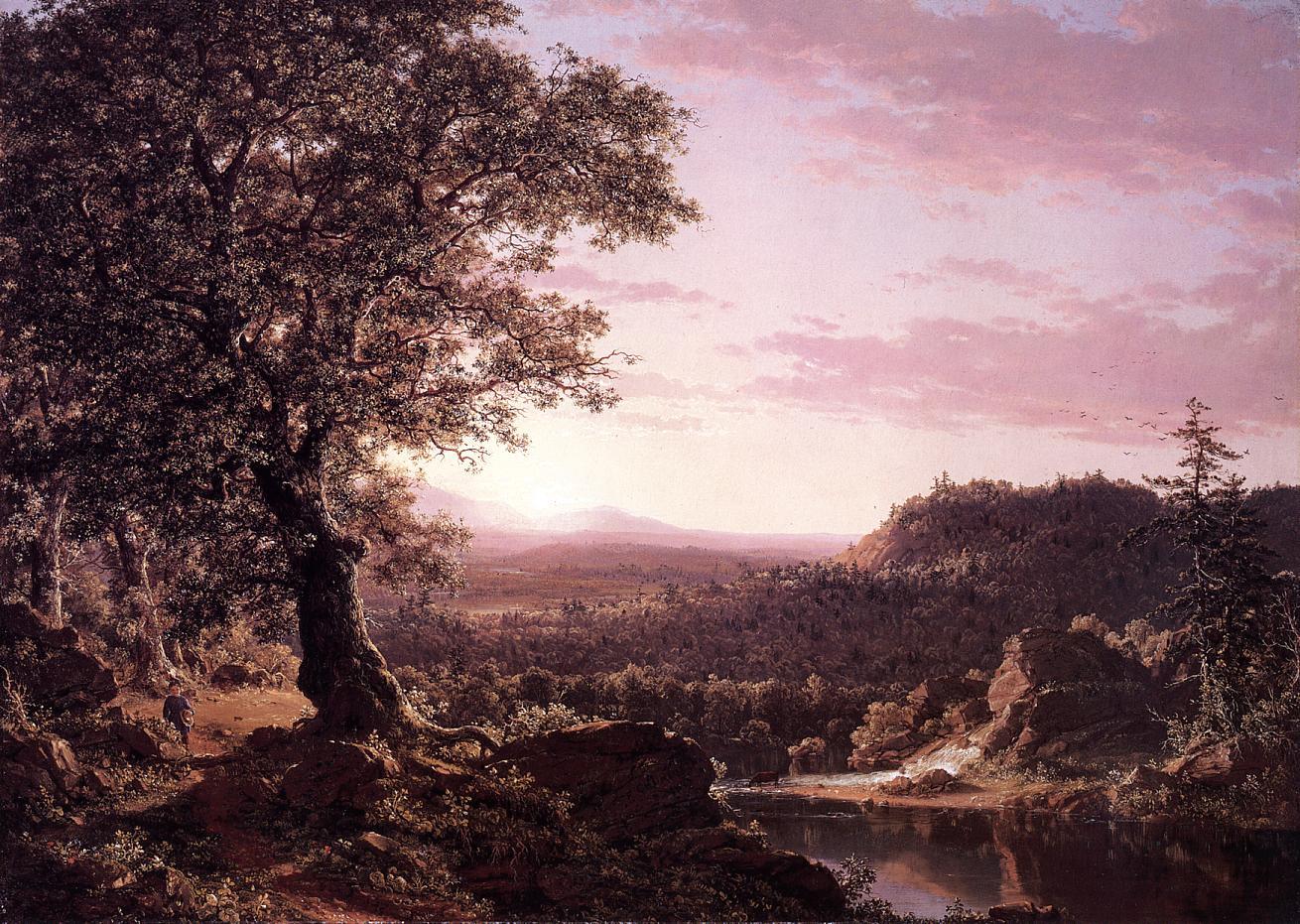 July Sunset Berkshire County Massachusetts 1847   Frederic Edwin Church   Oil Painting