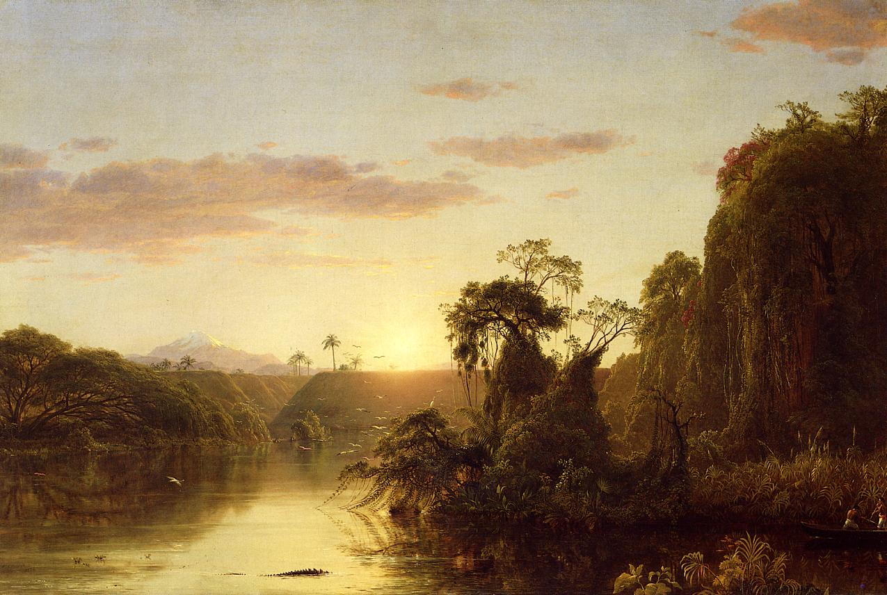 La Magdalena aka Scene on the Magdalena 1854 | Frederic Edwin Church | Oil Painting