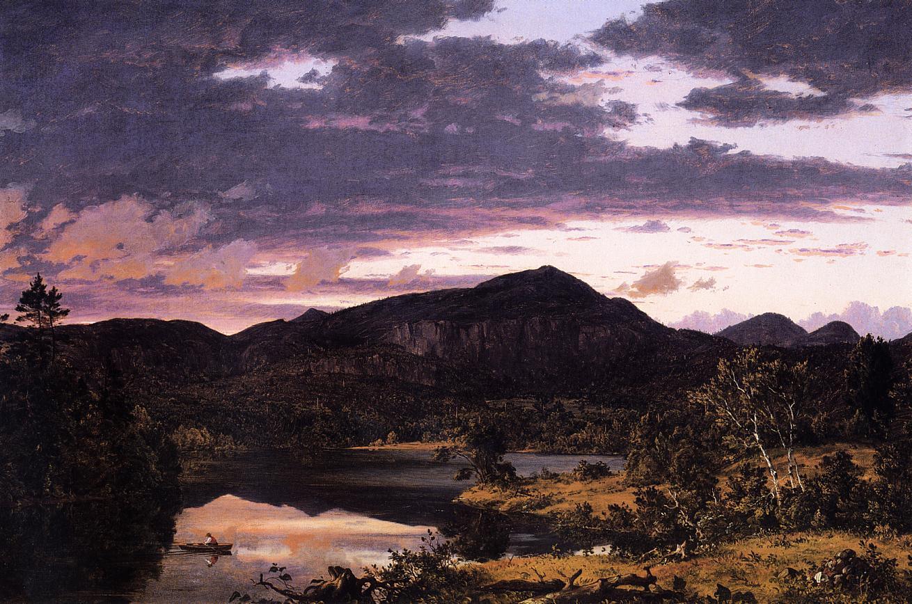 Lake Scene in Mount Desert 1851 | Frederic Edwin Church | Oil Painting