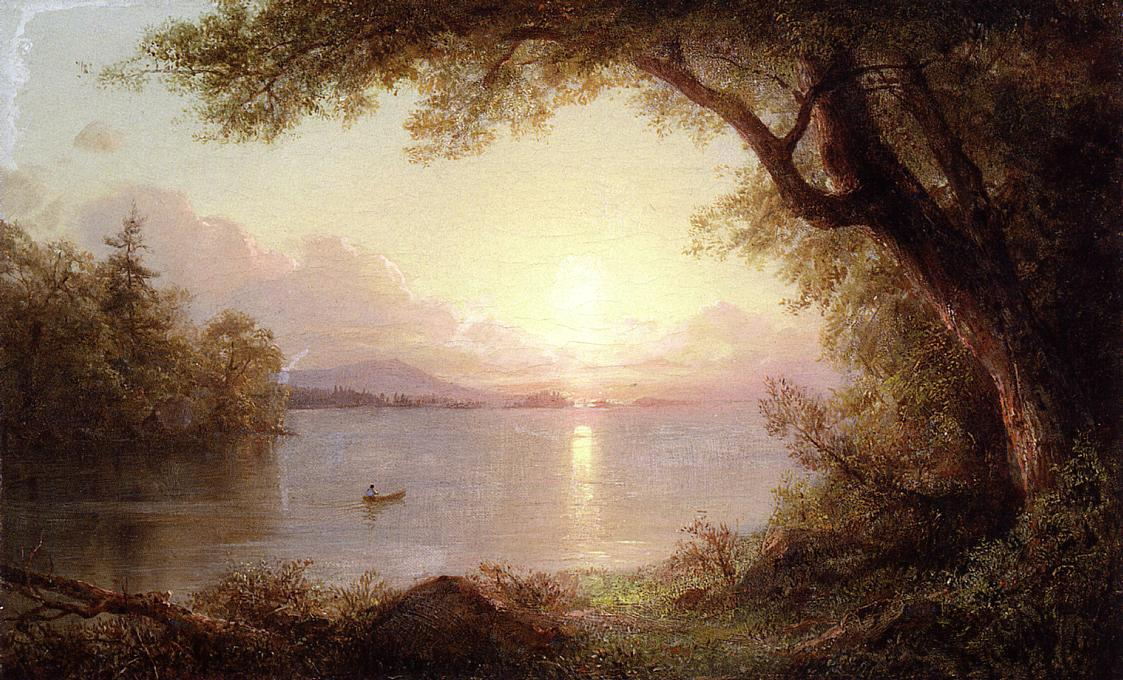 Landscape in the Adirondacks | Frederic Edwin Church | Oil Painting