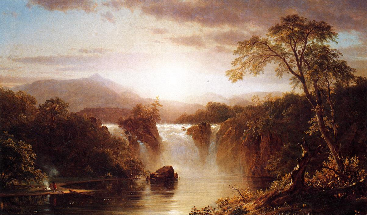 Landscape with Waterfall 1858 | Frederic Edwin Church | Oil Painting