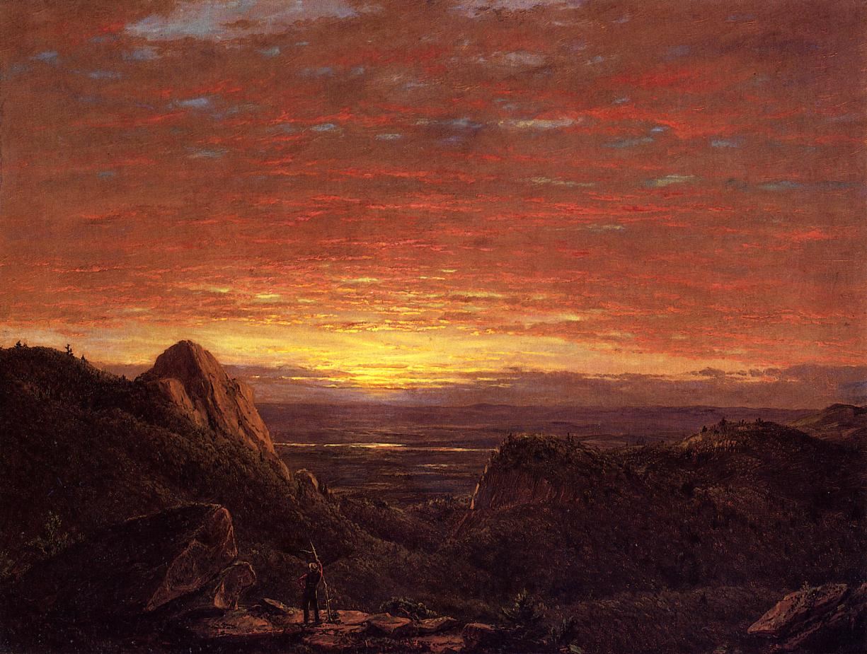 Morning Looking East over the Husdon Valley from Catskill Mountains 1848 | Frederic Edwin Church | Oil Painting