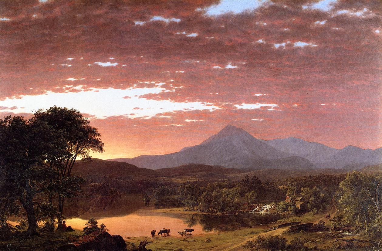Mount Ktaadn aka Mount Katahdin 1853 | Frederic Edwin Church | Oil Painting