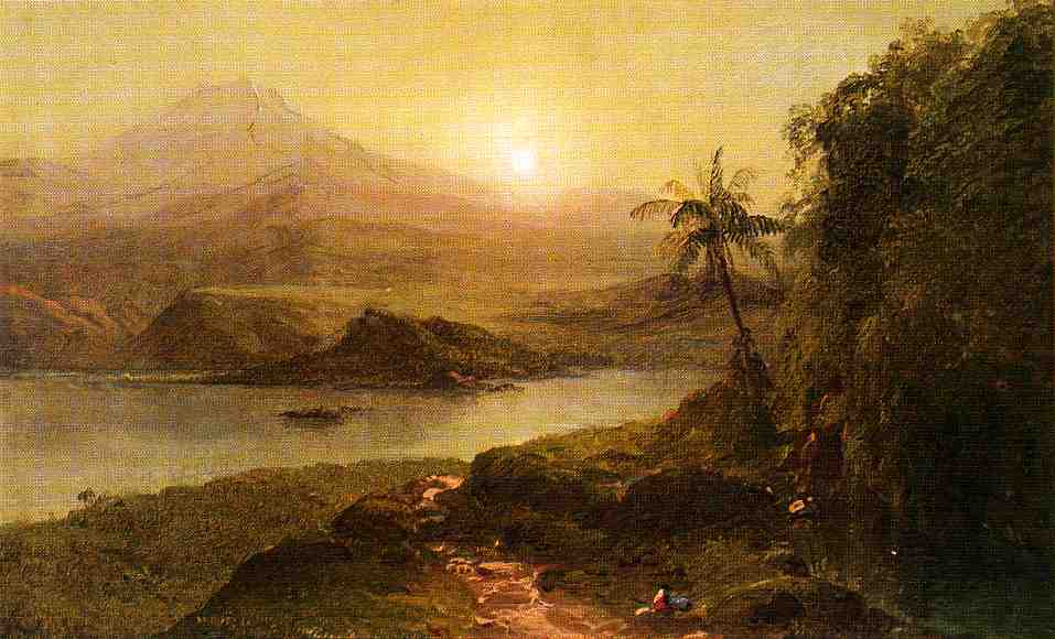 Mountain Landscape with River Near Philadelphia | Frederic Edwin Church | Oil Painting