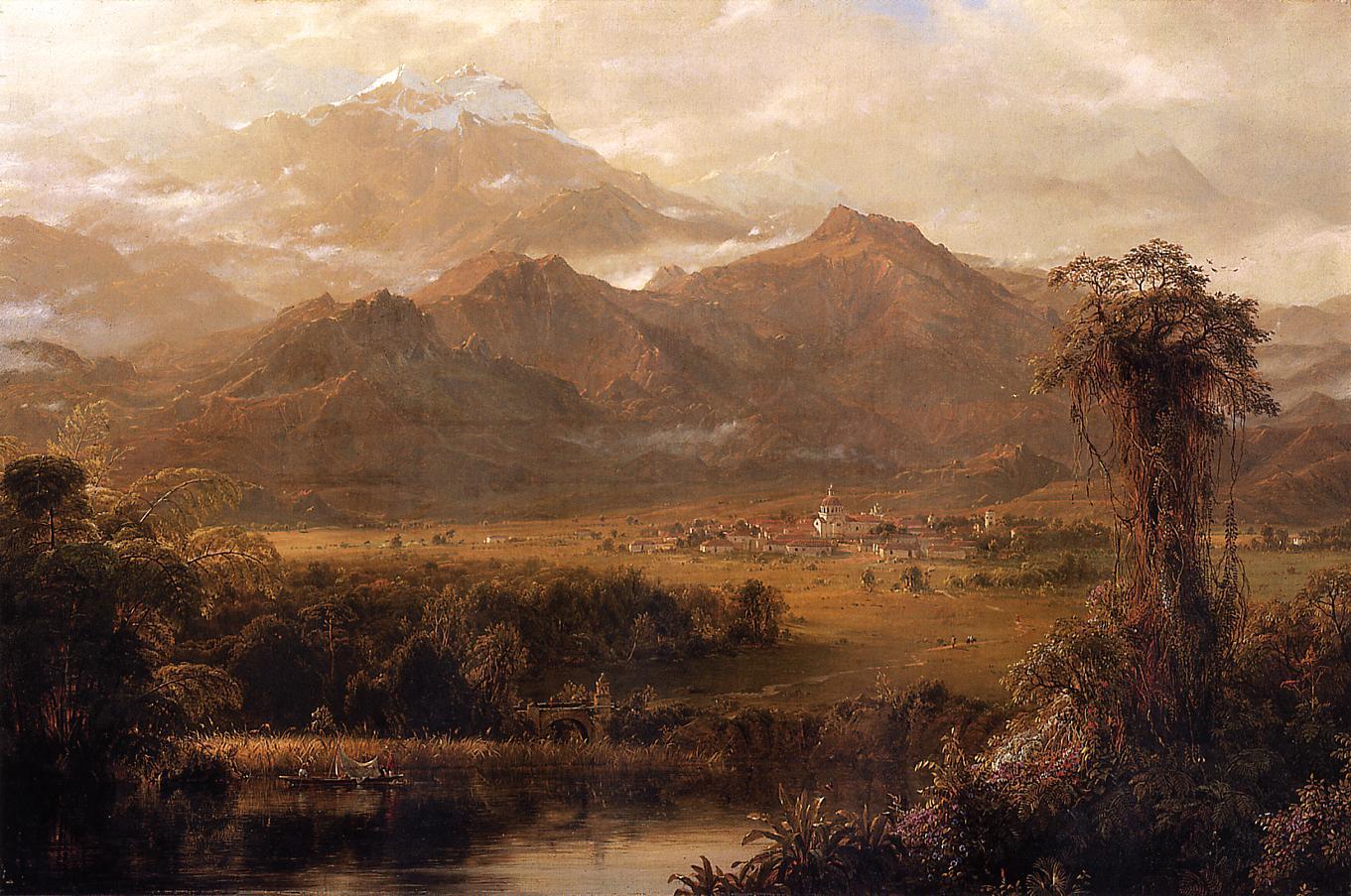 Mountains of Ecuador aka A Tropical Morning 1855 | Frederic Edwin Church | Oil Painting