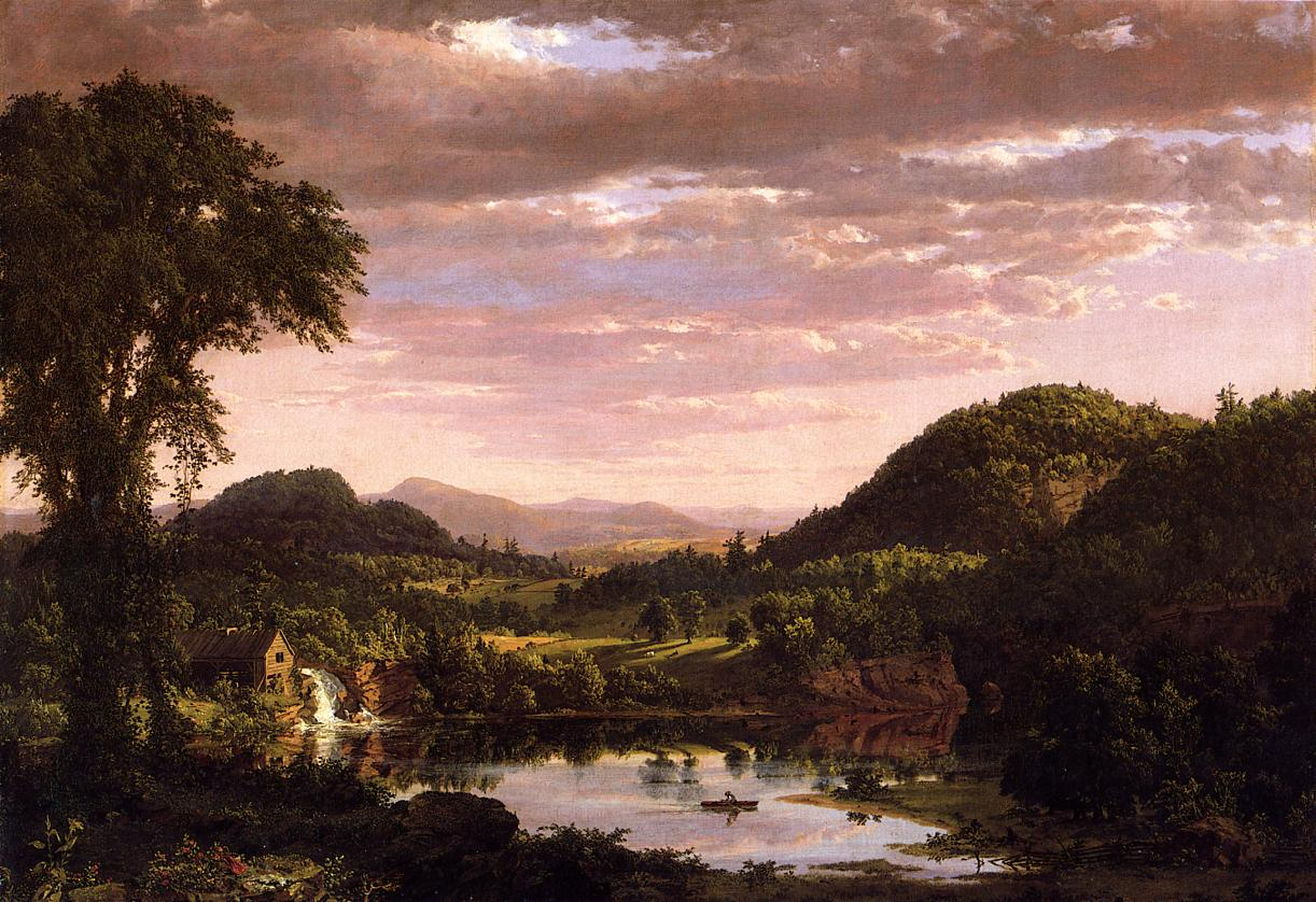 New England Landscape aka Evening after a Storm 1849 | Frederic Edwin Church | Oil Painting