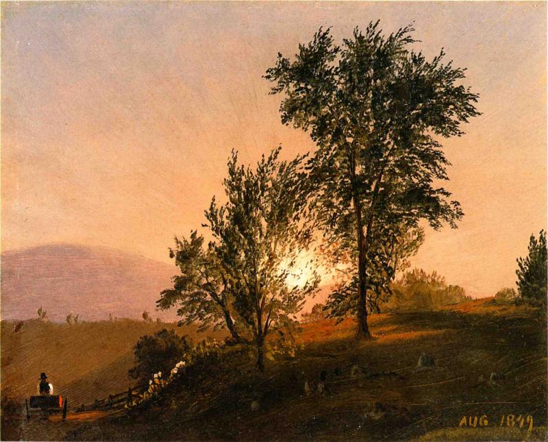 New England Landscape 1849 | Frederic Edwin Church | Oil Painting