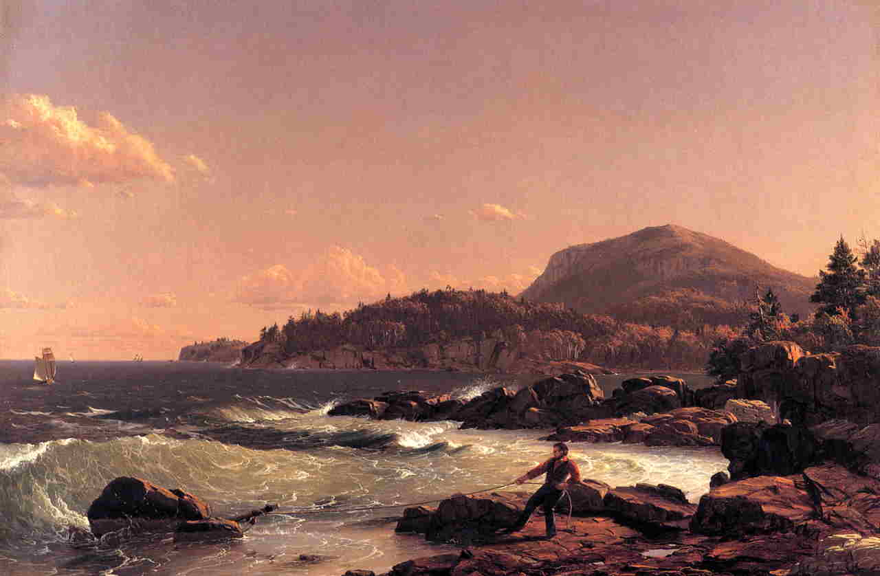 Newport Mountain Mount Desert 1851 | Frederic Edwin Church | Oil Painting