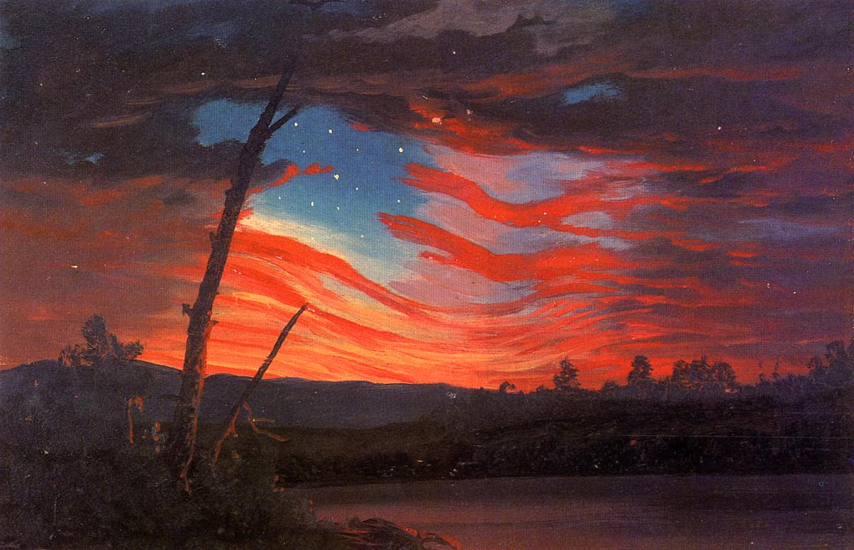 Our Banner in the Sky 1863 | Frederic Edwin Church | Oil Painting