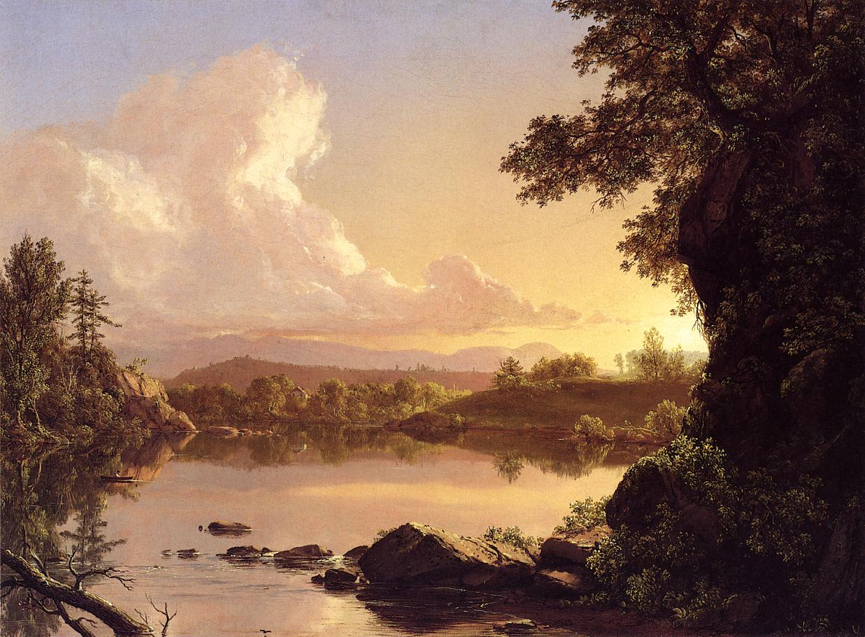 Scene on the Catskill Creek New York 1847 | Frederic Edwin Church | Oil Painting