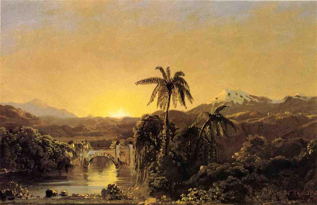 Sunset in Ecuador 1854 | Frederic Edwin Church | Oil Painting