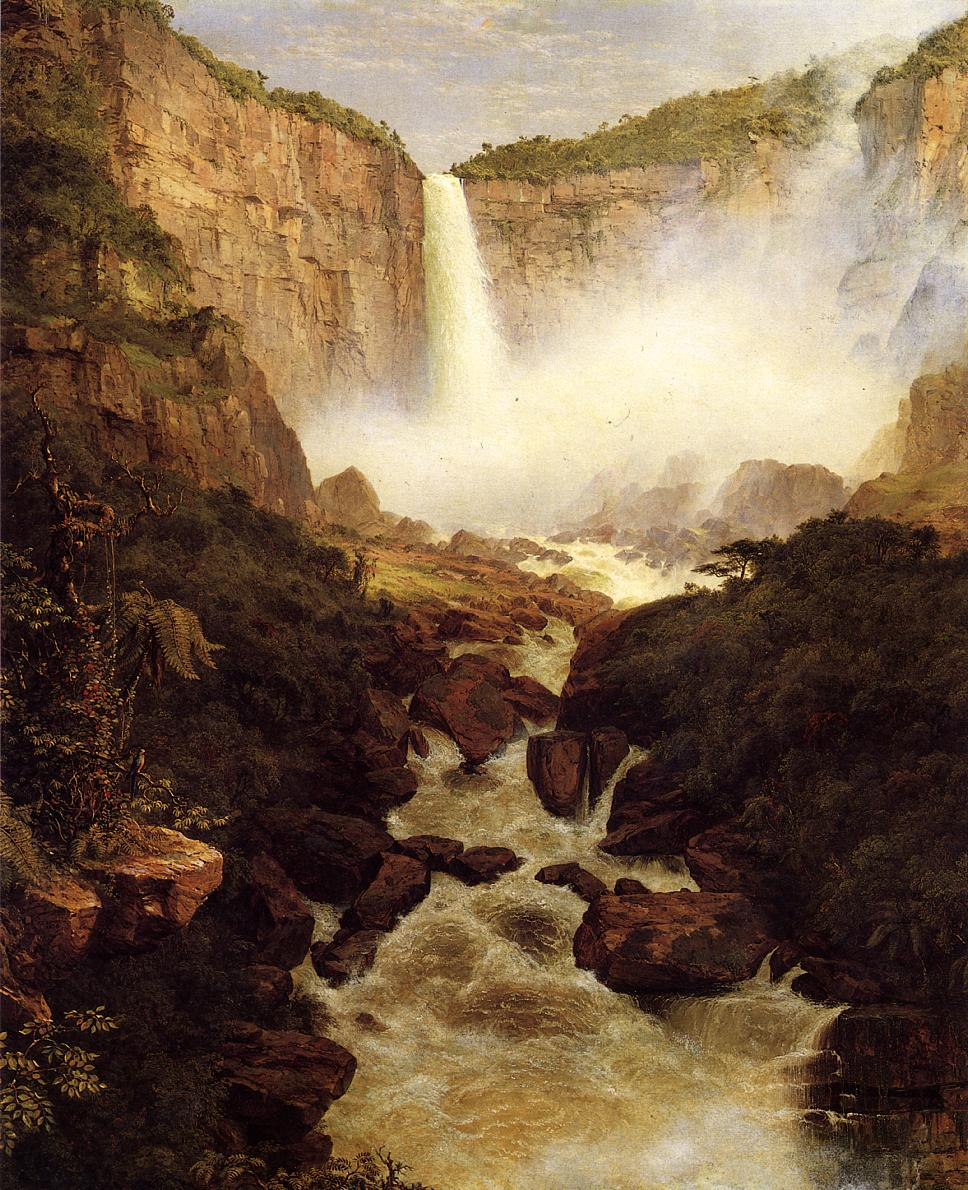 Tequendama Falls near Bogota New Granada 1854 | Frederic Edwin Church | Oil Painting