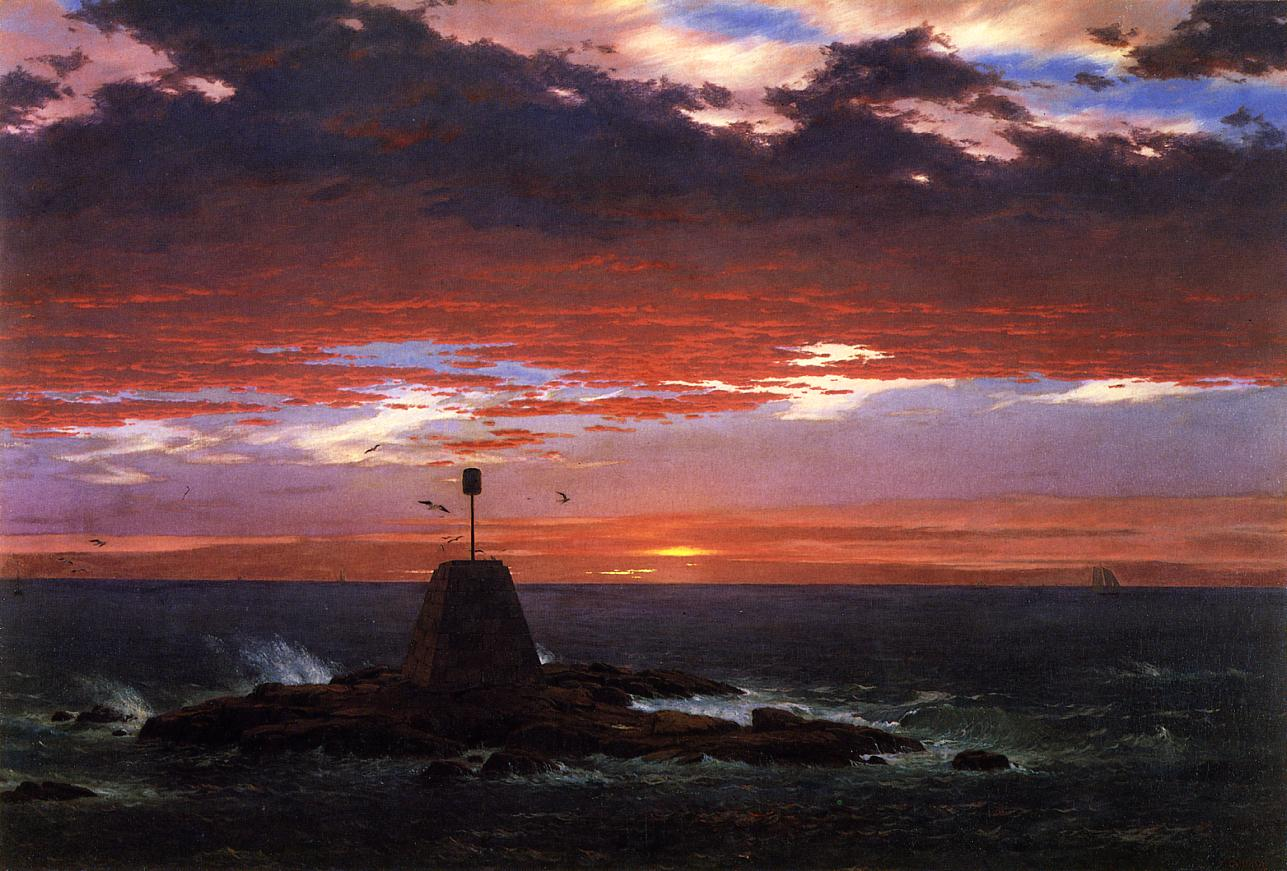 Beacon off Mount Desert Island 1851 | Frederic Edwin Church | Oil Painting