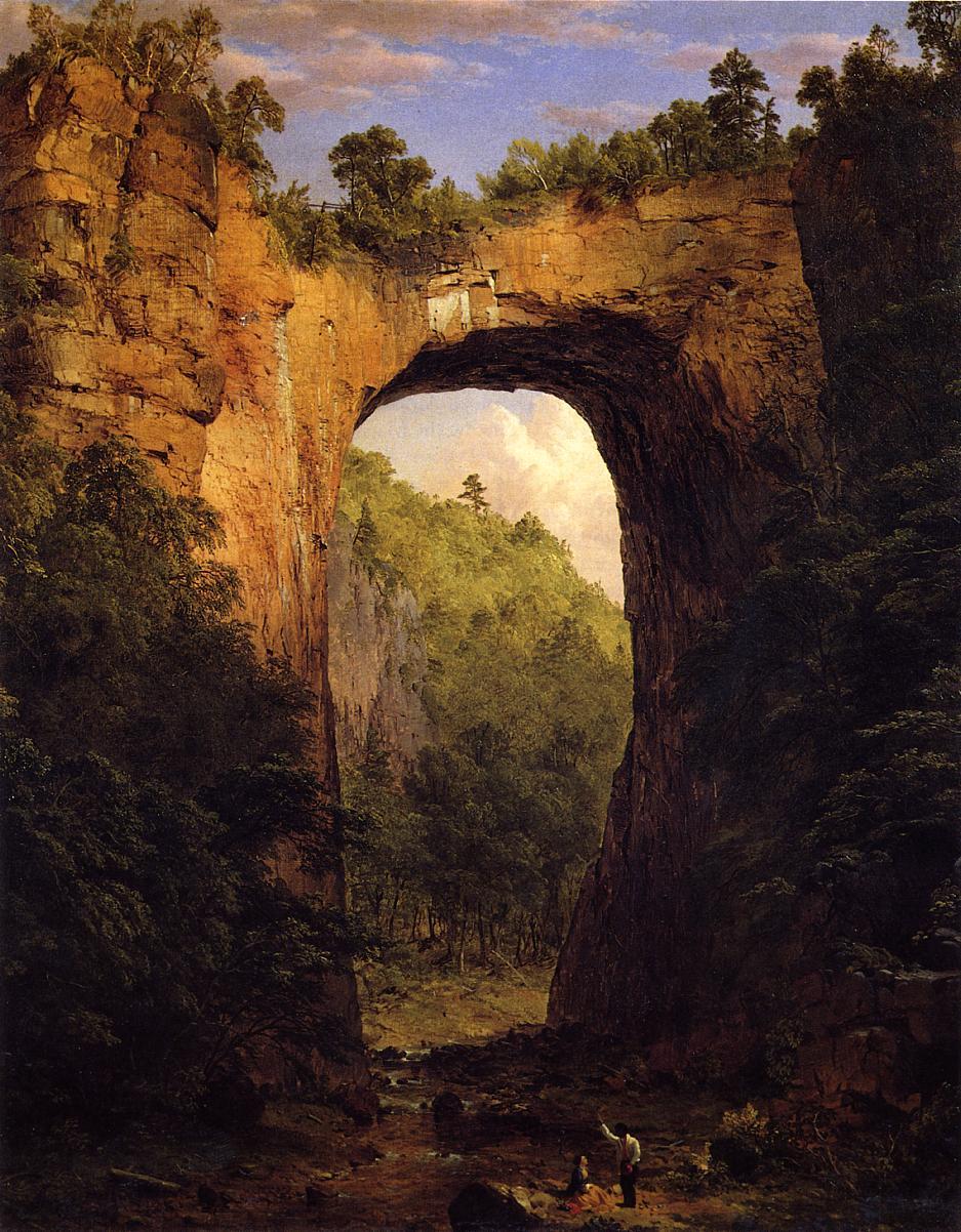 The Natural Bridge Virginia 1852 | Frederic Edwin Church | Oil Painting