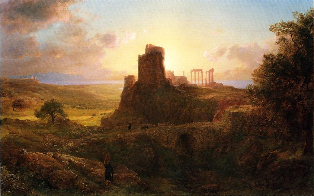 The Ruins at Sunion Greece 1869 | Frederic Edwin Church | Oil Painting
