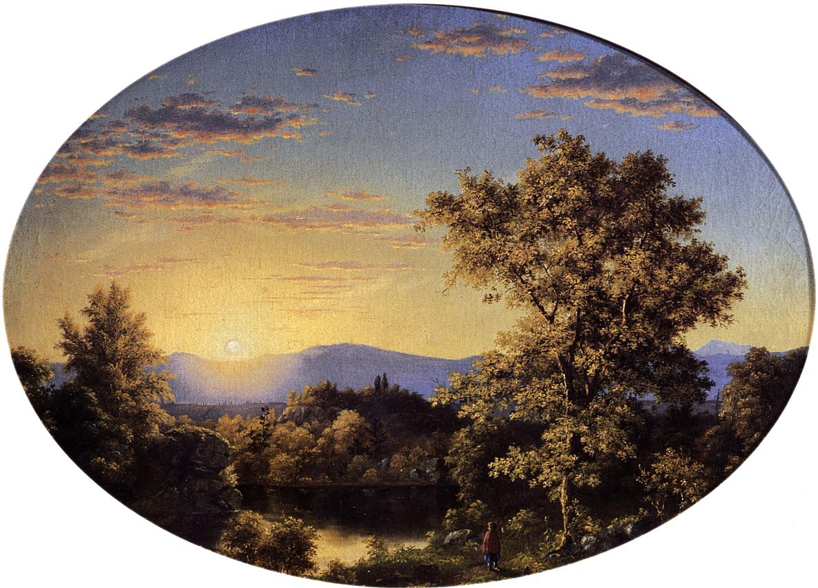 Twilight among the Mountains 1845 | Frederic Edwin Church | Oil Painting