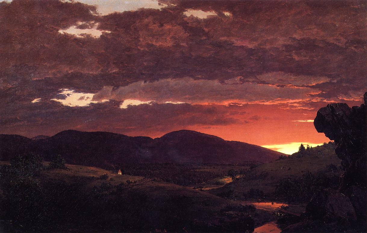 Twilight 'Short arbiter 'twixt day and night' 1850 | Frederic Edwin Church | Oil Painting